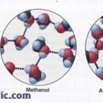 انحلال متانول در آب ( پیوندهای هیدروژنی)